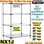 Stainless Steel Solid Shelving / NX1J
