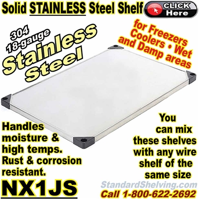 Stainless Steel Solid Shelves / NX1JS