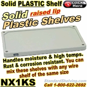 Plastic Solid Shelves / NX1KS