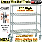 Chrome Wire 4-Shelf Trucks / NX2A