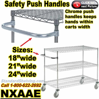 PUSH-HANDLES for Wire Shelving / NXAAE