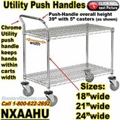 UTILITY-CART-HANDLES for Wire Shelving / NXAAHU
