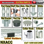 Accessories for Wire Shelving / NXACC