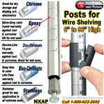 POSTS for Wire Shelving / NXAP