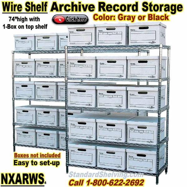 Wire Shelving Archive Storage / NXARWS