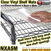 shelf LINER MATS for Wire Shelving / NXASM