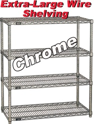 EXTRA LARGE CHROME WIRE SHELVING (NXC)