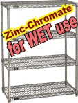 ZINC-CHROMATE WIRE SHELVING FOR WET & DAMP USE (NXD)