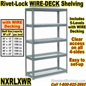 Heavy-Duty Wire-Deck Rivet Shelving / NXRLXWR