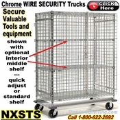 NXSTH / Heavy-Duty Chrome Security Wire Shelf Trucks
