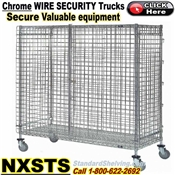 NXSTS / Chrome Security Wire Shelf Trucks