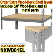 Extra Wood-Deck Rivet Shelves / NXWD01EL