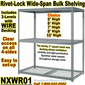Heavy-Duty Wire-Deck Rivet Shelving / NXWR01