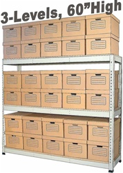 ARCHIVE RECORD STORAGE DOUBLE-RIVET SHELVING (S1A56)