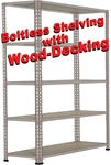 LOW-PROFILE DOUBLE-RIVET BOLTLESS-SHELVING WITH WOOD DECKING