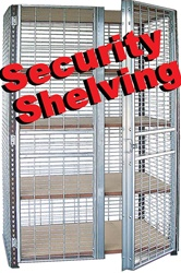 SECURITY SEE-THRU STORAGE SHELVING UNITS (S4U7)