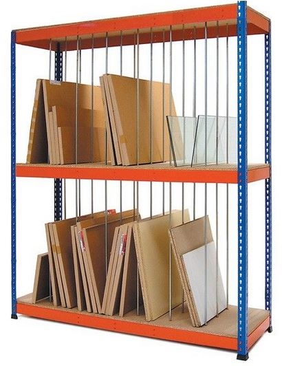 Vertical Storage Double Rivet Bulk Shelving Units Sdvs