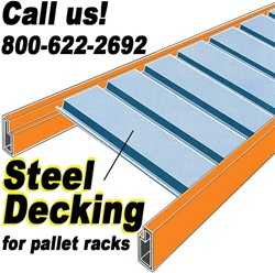 STEEL DECKING FOR PALLET RACKS