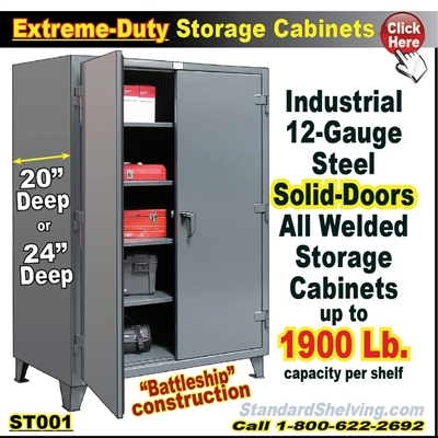 ST001 / Extreme-Duty Steel Storage Cabinets