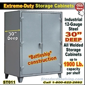 "ST011 / Extreme-Duty 30""Deep Steel Storage Cabinets"