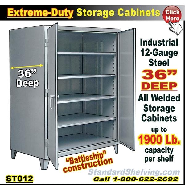 Our 36 Deep Heavy Duty 12 Gauge Battleship Storage Cabinet