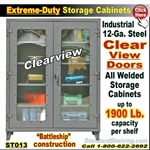 ST013 / Extreme-Duty Clear View Door Steel Cabinets