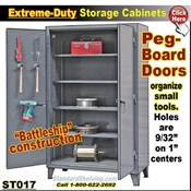 ST017 / Pegboard tool Storage Cabinets