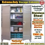 ST022 / Extreme Duty Stainless Steel Cabinets