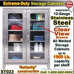ST023 / Extreme Duty Stainless Steel Clear View Cabinets