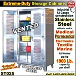 ST025 / Extreme Duty Stainless Steel VENTED Cabinets