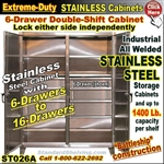 ST026 / Extreme Duty Stainless Steel DRAWER Cabinets