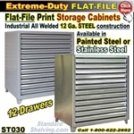 ST030 / Extreme Duty Stainless Steel Flat File Cabinet