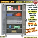 ST101 / Extreme Duty 3-Drawer Storage Cabinet