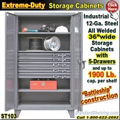 ST103 / Extreme Duty 5-Drawer Storage Cabinet