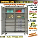 ST109 / Extreme Duty 14-Drawer Storage Cabinet