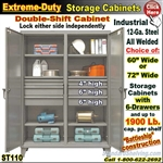 ST110 / Extreme Duty 6-Drawer Double shift Storage Cabinet
