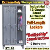ST120 / Extreme-Duty Full Length Personal Lockers