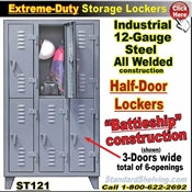 ST121 / Extreme-Duty Half-Door Personal Lockers