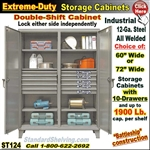 ST124 / Extreme Duty 10-Drawer Double Shift Storage Cabinet