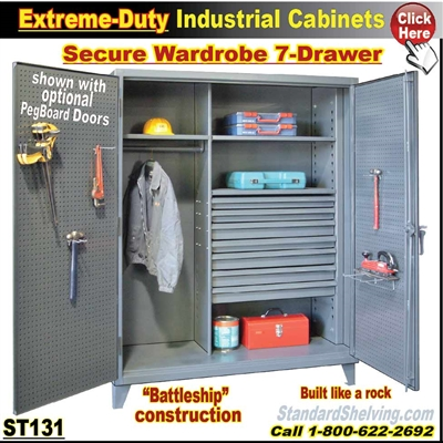 ST131 / Extreme Duty 7-Drawer Wardrobe Cabinet
