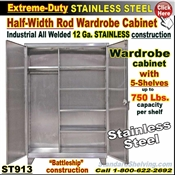 ST913 / Extreme Duty Stainless Steel Wardrobe Storage Cabinet
