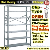 20 gauge Steel Shelving / Clip-Type / TB1E