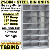 21-Bin Openings Steel Shelf Unit / TBBIND21