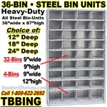 36-Bin Openings Steel Shelf Unit / TBBING36