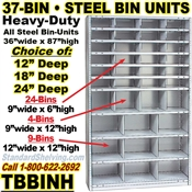 37-Bin Openings Steel Shelf Unit / TBBINH37