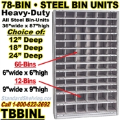 78-Bin Openings Steel Shelf Unit / TBBINL78