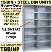 12-Bin Openings Steel Shelf Unit / TBBINP12