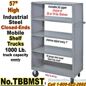 Steel Shelf Trucks Closed-Ends / TBBMST