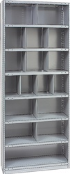 "STEEL BIN UNIT WITH 17-OPENINGS, UNIT 87""HIGH (TBC)"
