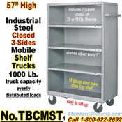 Steel Shelf Trucks Closed 3-Sides / TBCMST